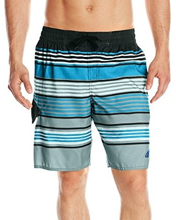 Adidas-Men's-Textured-Stripe-Volley-Swim-Trunk-turquoise