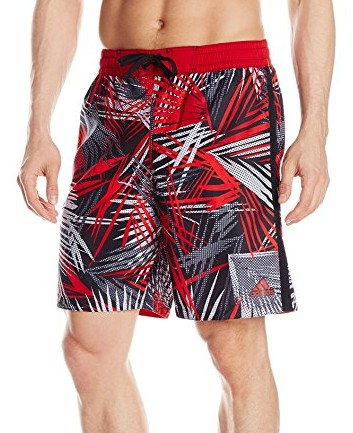 Adidas-Mens-Tropic-Thunder-Volley-Swim-Trunk-black-red