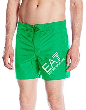 Emporio-Armani-Mens-Shiny-Fashion-Sea-World-Surfing-Swim-Short-bright-green