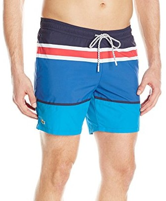 Lacoste-Mens-Elastic-Waist-Engineered-Stripe-Swim-Medium-Length
