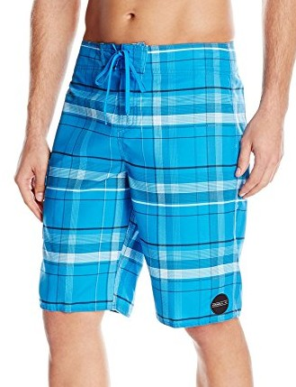 ONeill-Mens-Santa-Cruz-Plaid-Boardshort-blue