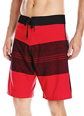 Burnside-Mens-Vortex-Stretch-Boardshort-red