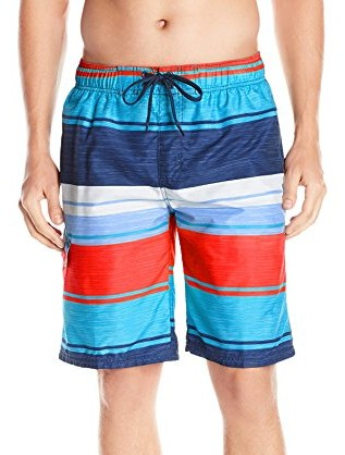 Kanu-Surf-Mens-Impact-Stripe-Swim-Trunk-navy-red