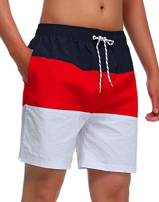 MILANKERR-MENS-SWIM-TRUNK-Beach-shorts-red