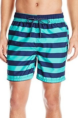 Kanu-Surf-Mens-Troy-Stripe-Swim-Trunks-navy-green