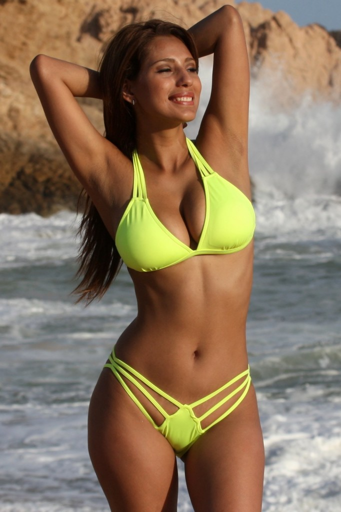 Neon-Lemon-Lime-Strappy-Bikini-UjENA-swimwear