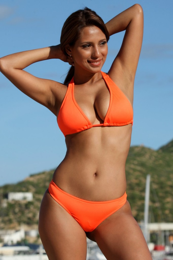 Neon-Orange-Halter-Thong-Bikini-UjENA-swimwear
