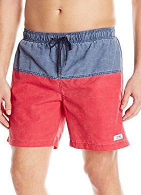 TRUNKS-Mens-San-O-6.5-Nylon-Pigment-Colorblock-marine-salsa