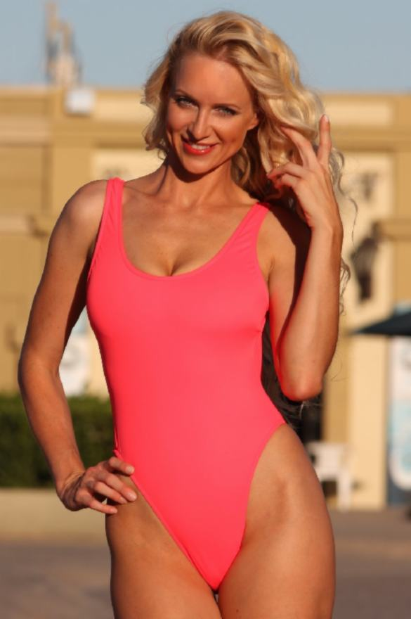 UjENA-Electric-Coral-Double-Dip-1-PC-swimwear