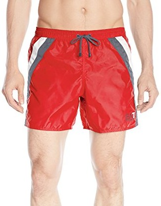Emporio-Armani-Mens-Color-Block-Sea-World-Swim-Short-red